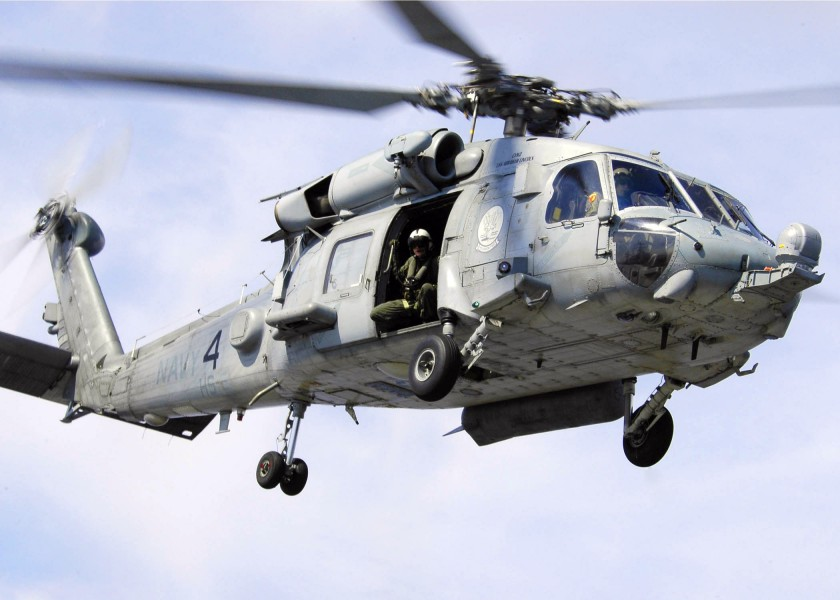 US Navy 060503-N-7981E-129 An SH-60F Seahawk of Helicopter assigned to the