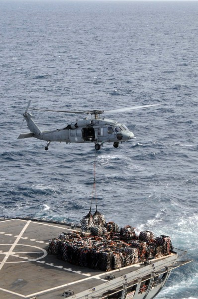 US Navy 090226-N-3589B-019 An MH-60S Sea Hawk helicopter assigned to the
