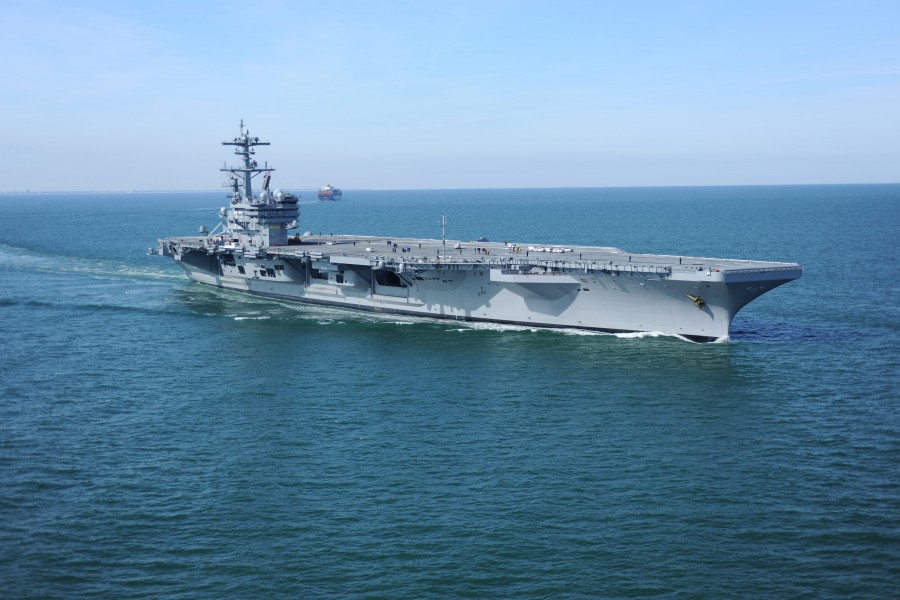 US Navy 100127-N-1854W-071 The Nimitz-class aircraft carrier USS George H.W. Bush (CVN 77) is underway in the Atlantic Ocean conducting sea trials