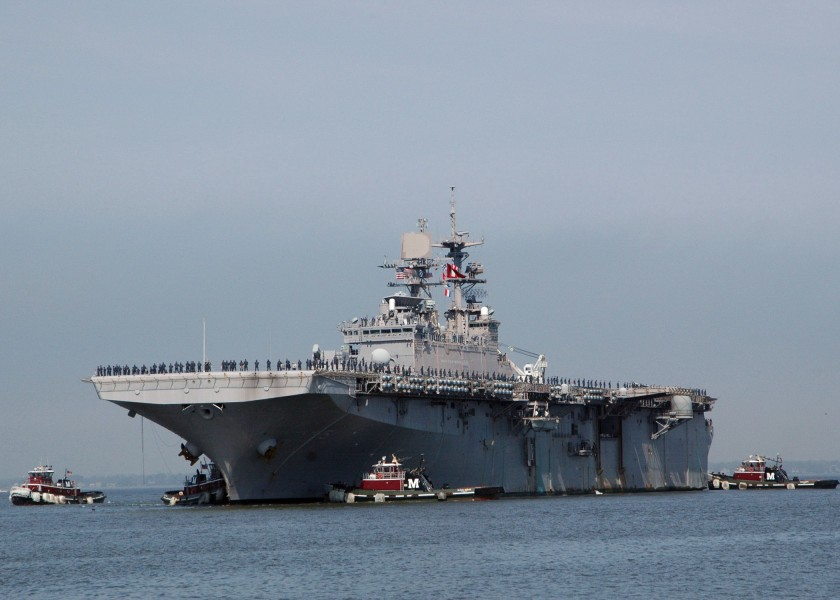 US Navy 100403-N-9806M-025 USS Bataan (LHD 5) returns to Naval Station Norfolk