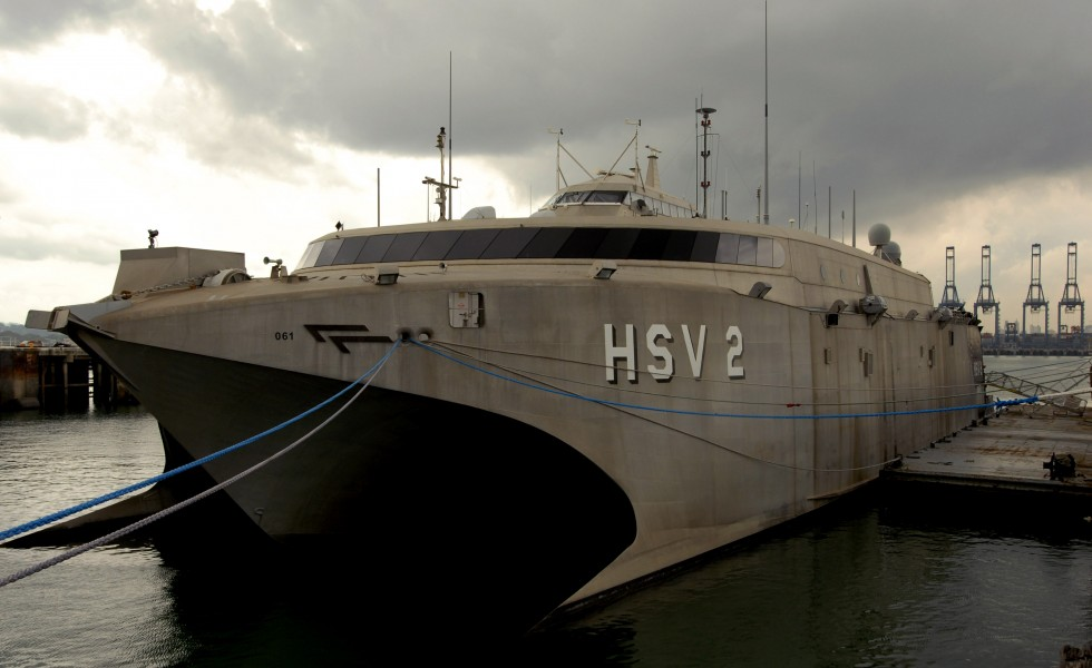 US Navy 100601-N-4971L-089 Swift (HSV 2) is moored in Balboa-Rodman, Panama