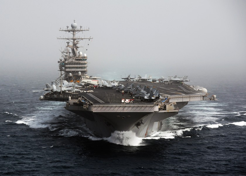 US Navy 101205-N-4856N-174 The aircraft carrier USS Abraham Lincoln (CVN 72) transits the Arabian Sea