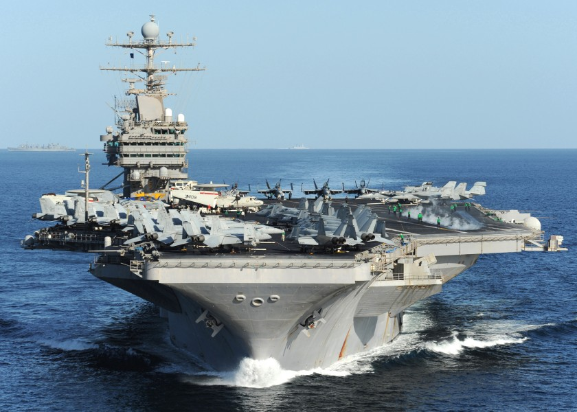 US Navy 101210-N-1261P-081 USS Abraham Lincoln (CVN 72) underway in the Arabian Sea in support of Operation Enduring Freedom