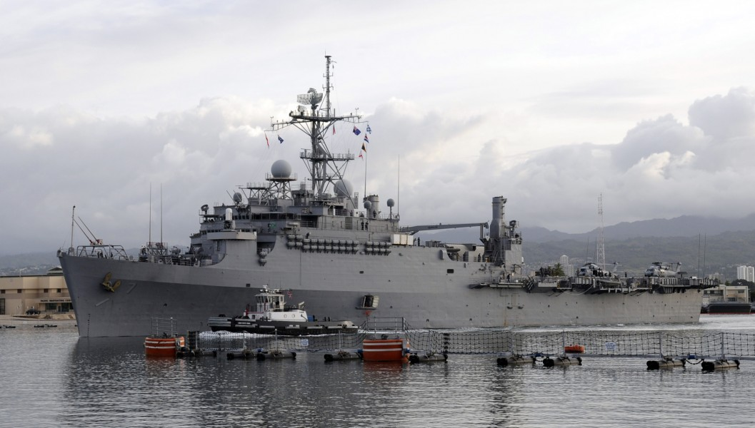 US Navy 110405-N-VM928-016 USS Cleveland (LPD 7) departs Joint Base Pearl Harbor-Hickam after a scheduled port visit