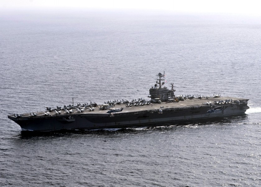 US Navy 120105-N-JN612-175 The Nimitz-class aircraft carrier USS Abraham Lincoln (CVN 72) is underway in the U.S. 7th Fleet area of responsibility