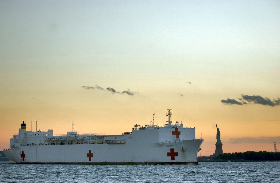 USNS Comfort Statue of Liberty