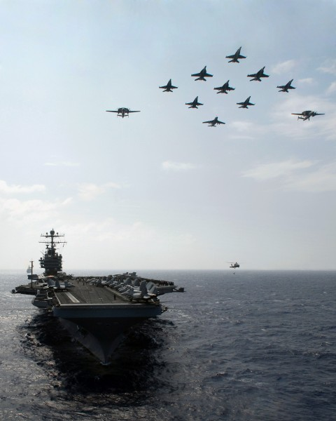 USS Abraham Lincoln air power demonstration
