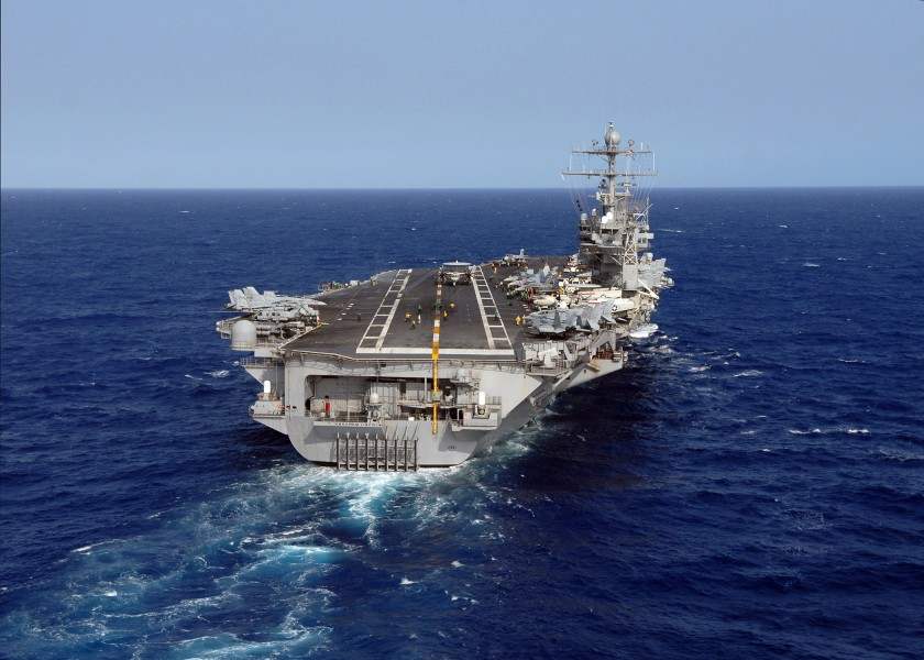 USS Abraham Lincoln landing view