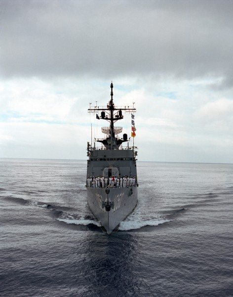 USS Albert David (FF-1050) bow view
