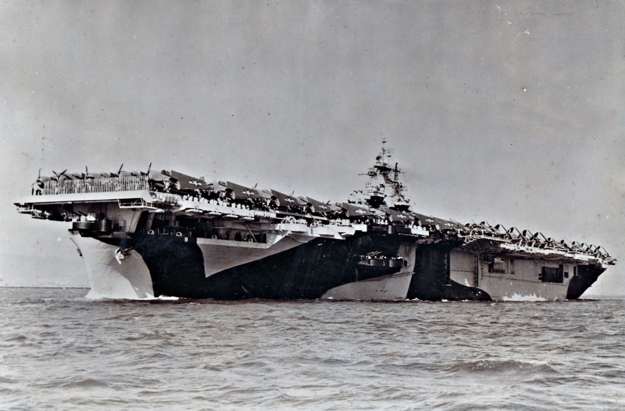 USS Essex leaving SF bow 1944