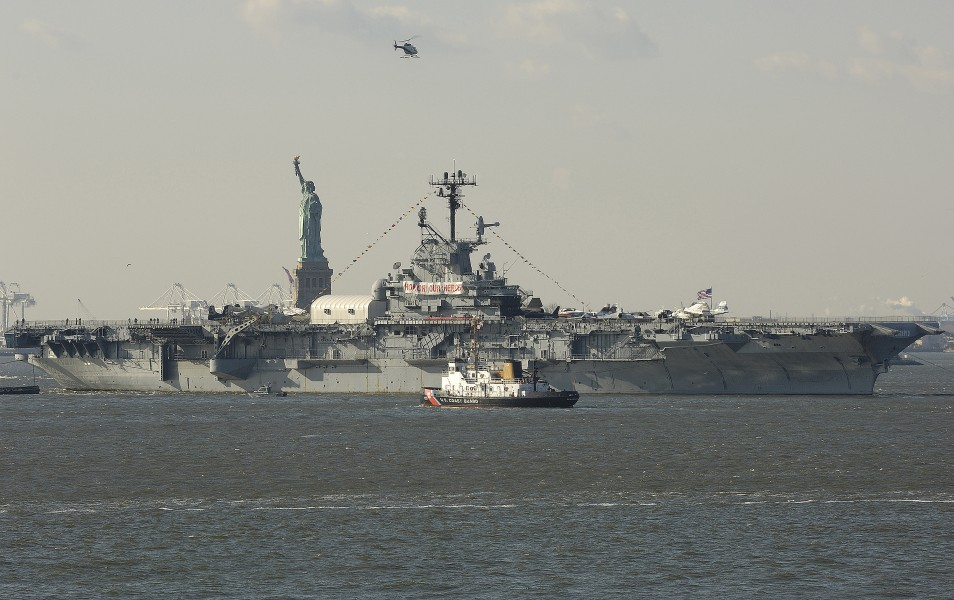 USS Intrepid (CVS-11) being towed to Bayonne NJ 2006
