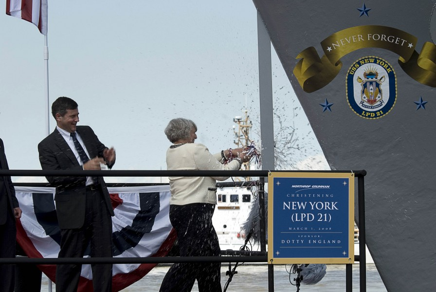 USS New York christening