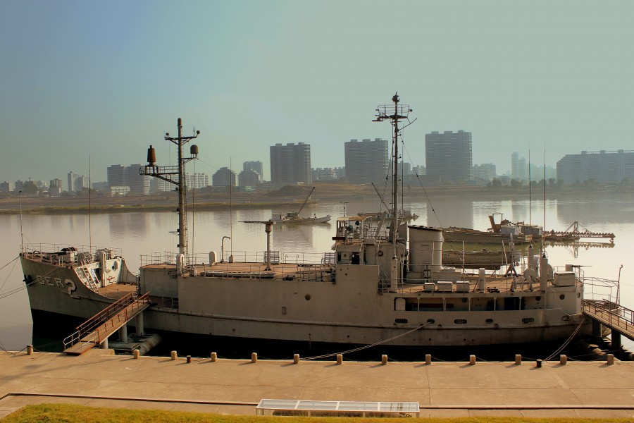 USS Pueblo (AGER-2) in Pyongyang - October 2012