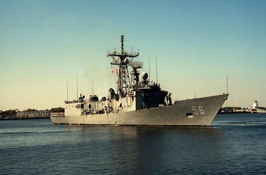 USS Simpson (FFG-56) arriving in Mayport
