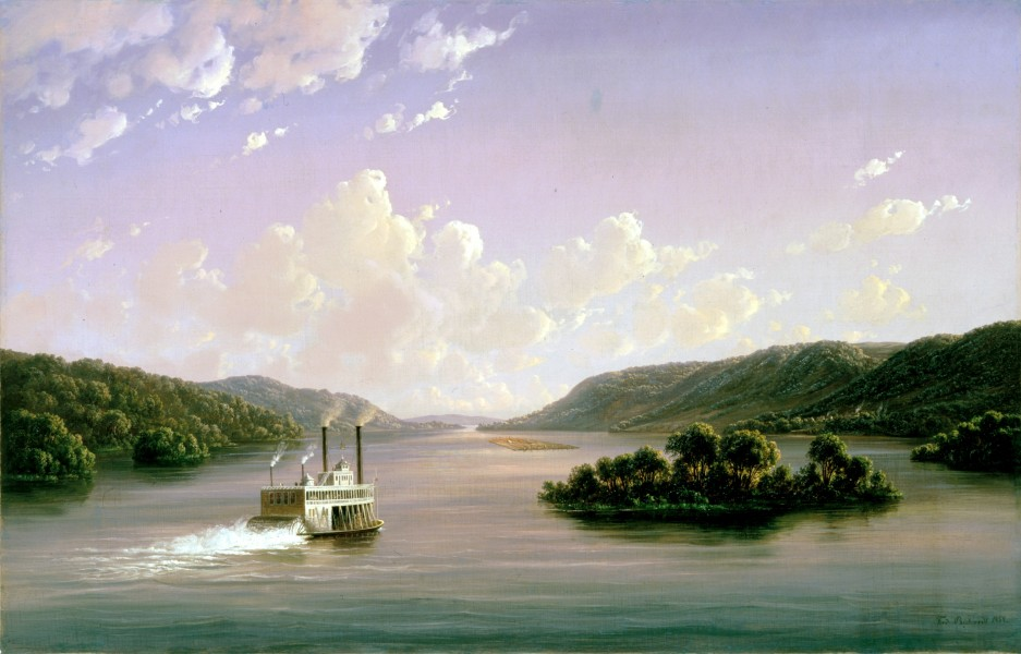 View on the Mississippi by Ferdinand Richardt, 1858
