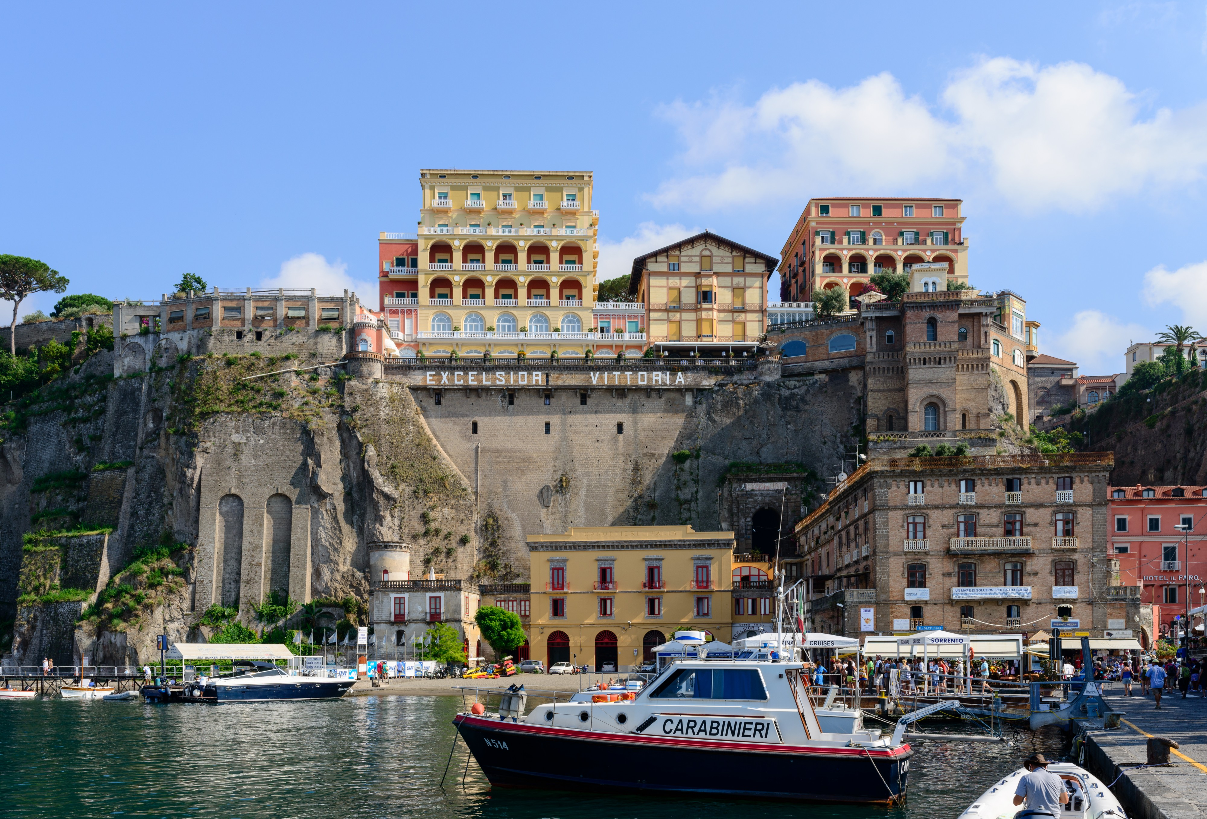Ferry and yacht port of Sorrento - Campania - Italy - July 12th 2013 - 04