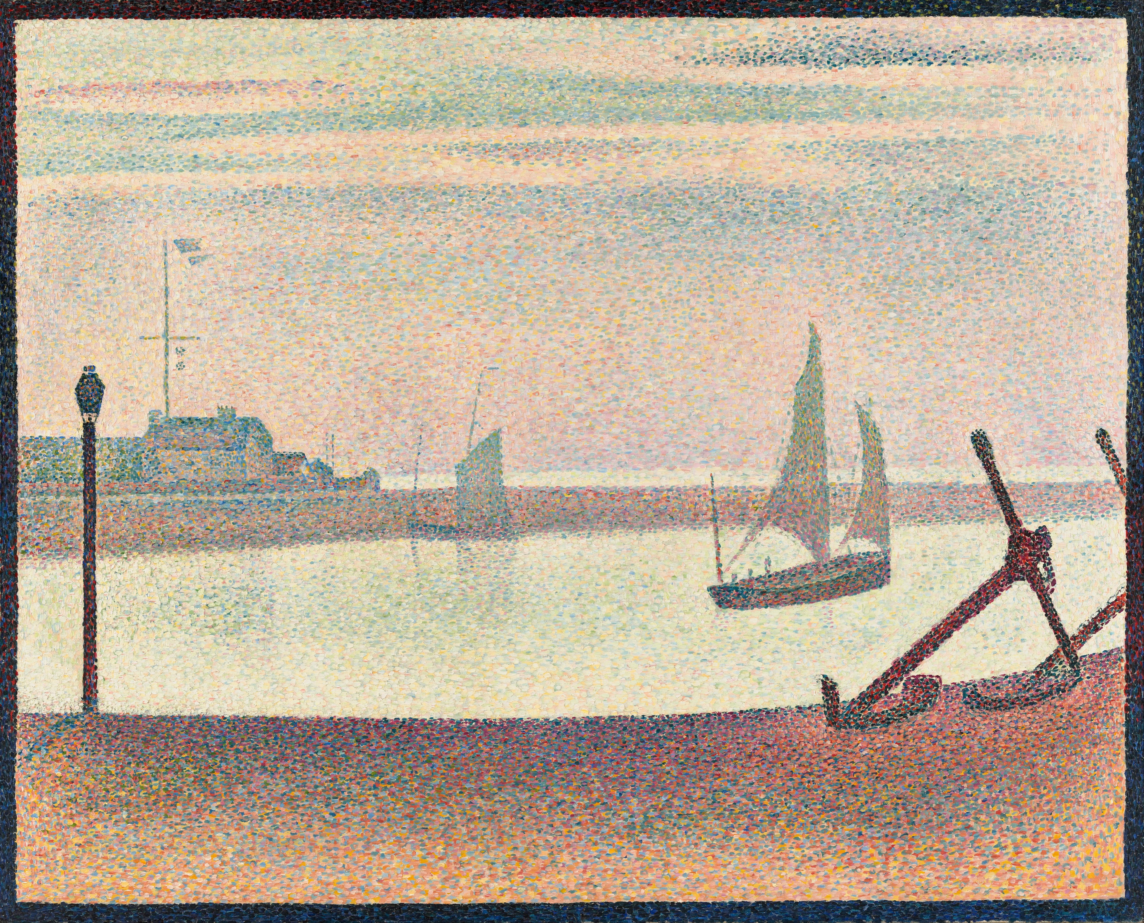 Georges-Pierre Seurat - The Channel at Gravelines, Evening - Google Art Project
