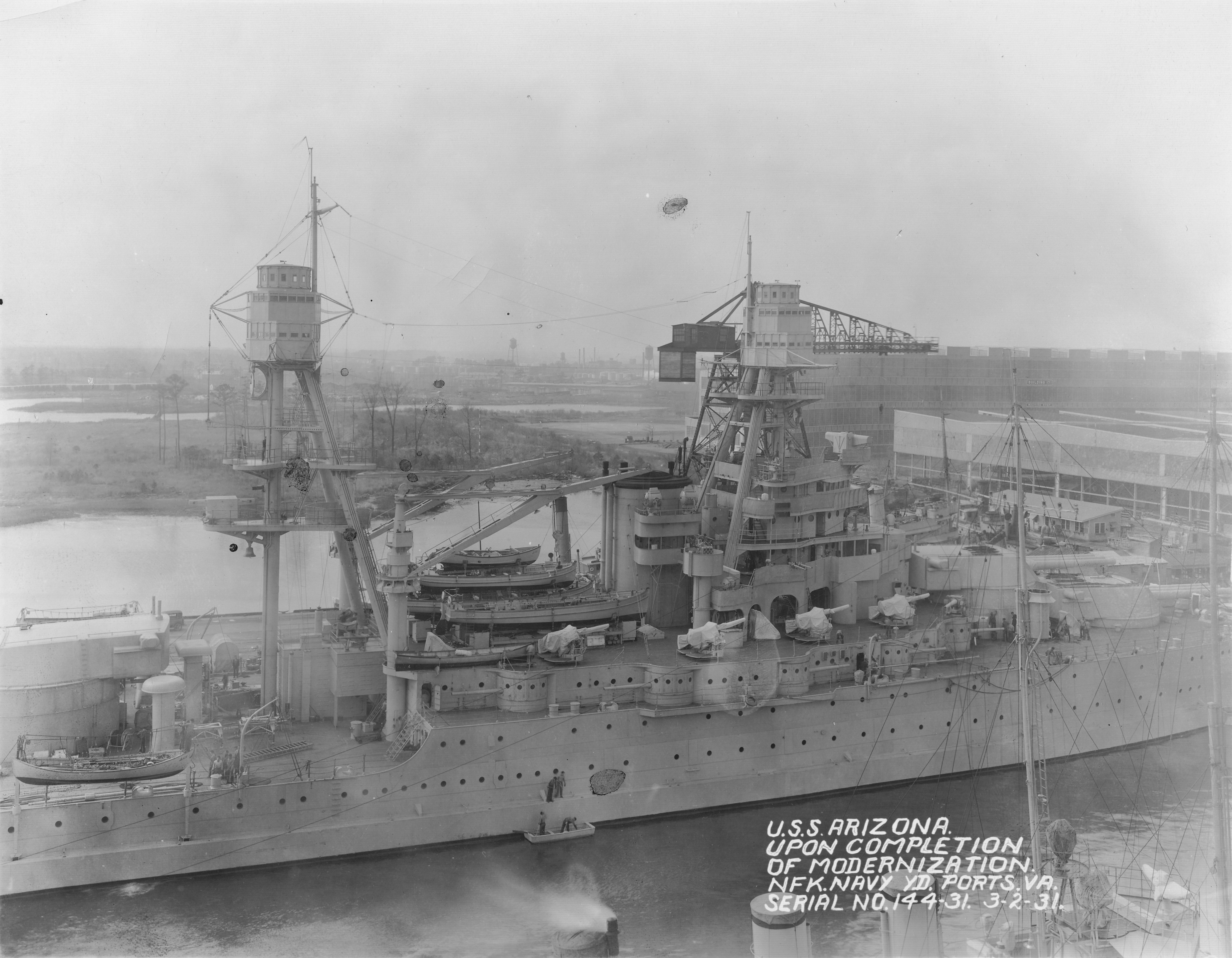 USS Arizona after 1931 modernization NARA 19-LC-19B-4