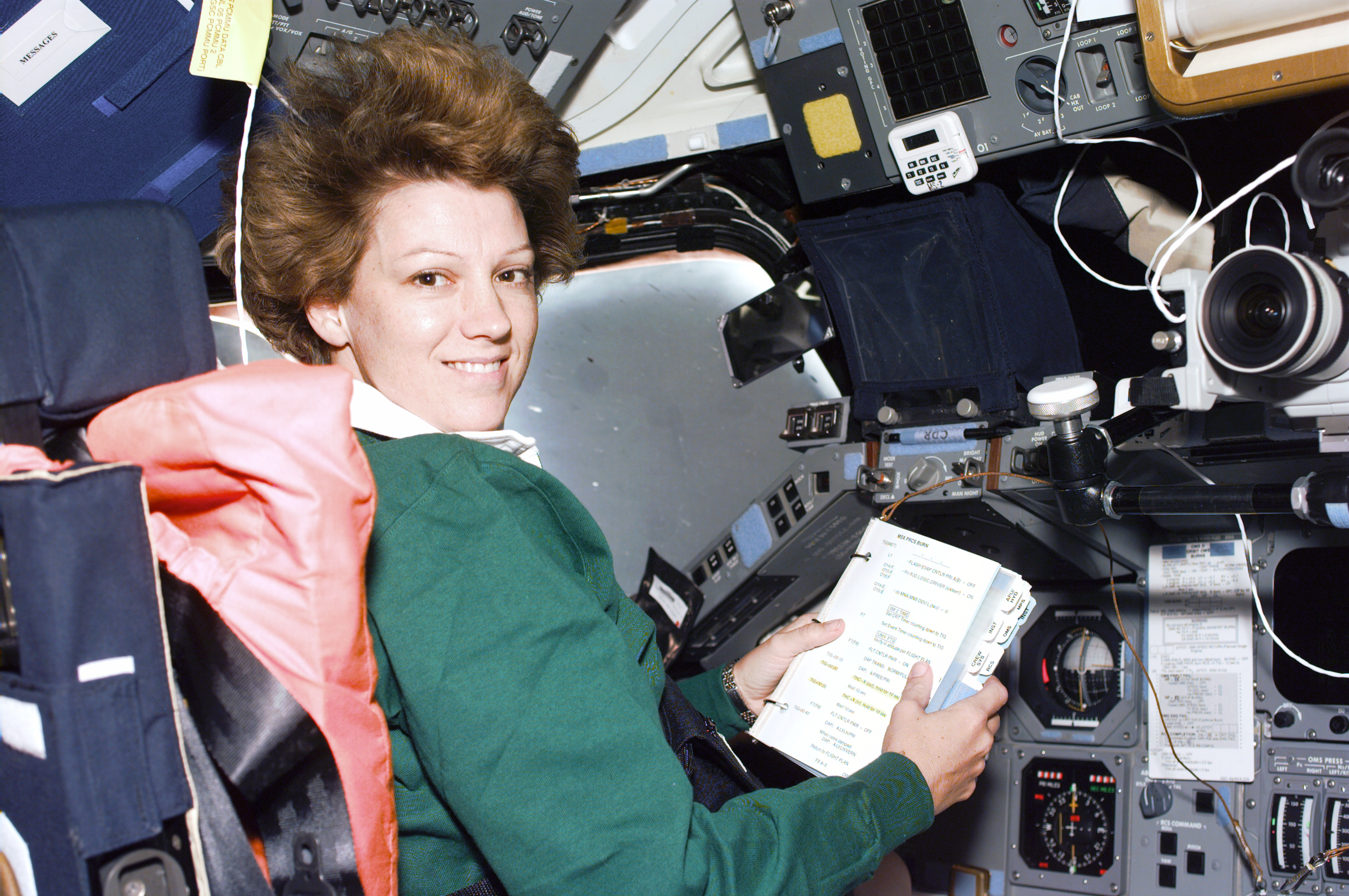 Eileen Collins on STS-93