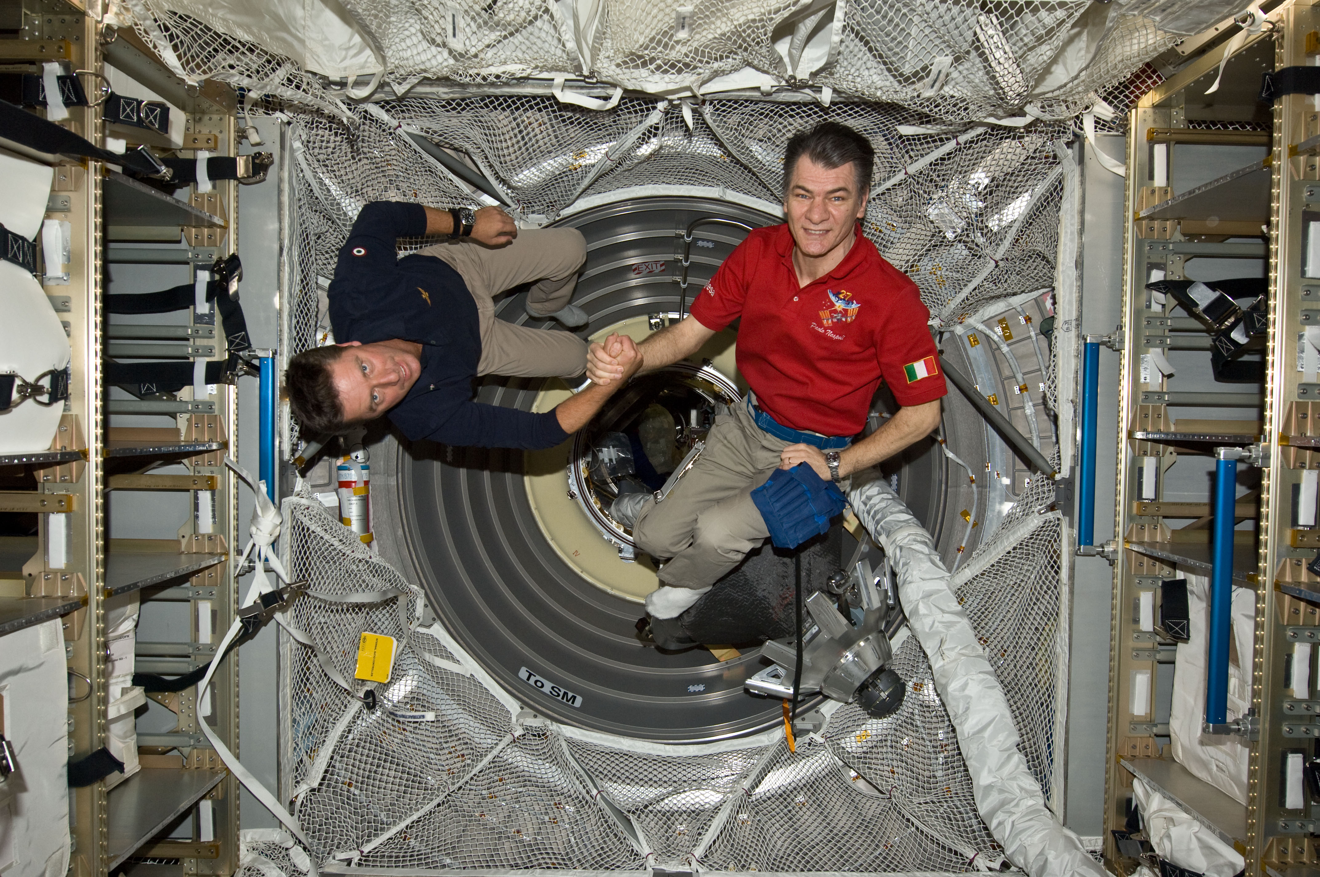 ISS-27 STS-134 Paolo Nespoli and Roberto Vittori in the ATV