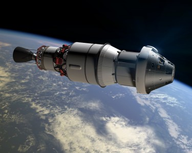 Rendering of Orion Exploration Flight Test 1