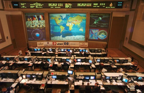 Russian ISS Flight Control Room