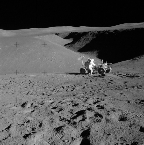 Apollo 15 Station 2 Rille, Lunar Rover, Scott