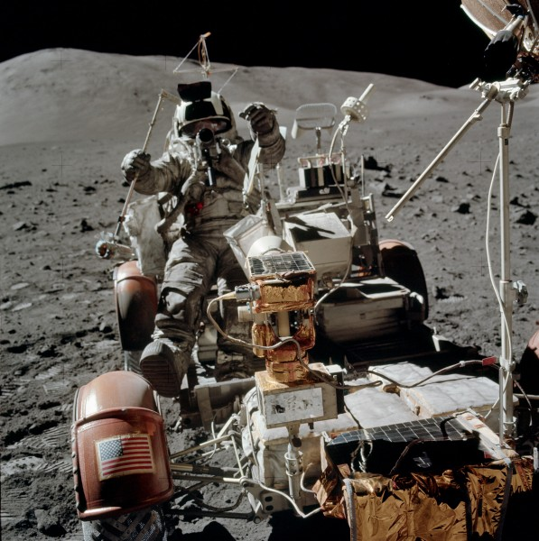 Apollo 17 Lunar Roving vehicle AS17-134-20453HR