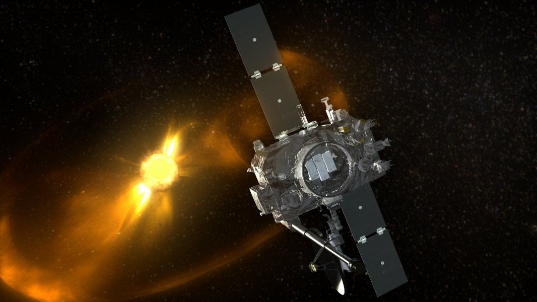 Artist's concept showing CME sweeping past STEREO