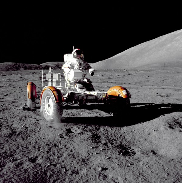 Cernan Driving the Rover - GPN-2000-001139