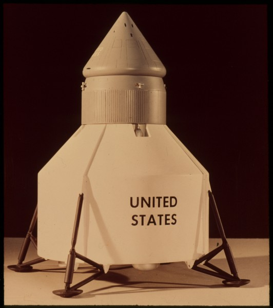 Early concept model of the lunar module