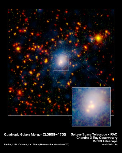 Galaxy Merger in Infrared, Visible, and X ray