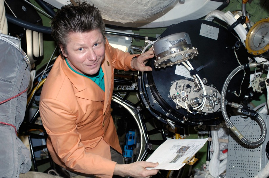 ISS-20 Gennady Padalka in the Pirs Docking Compartment