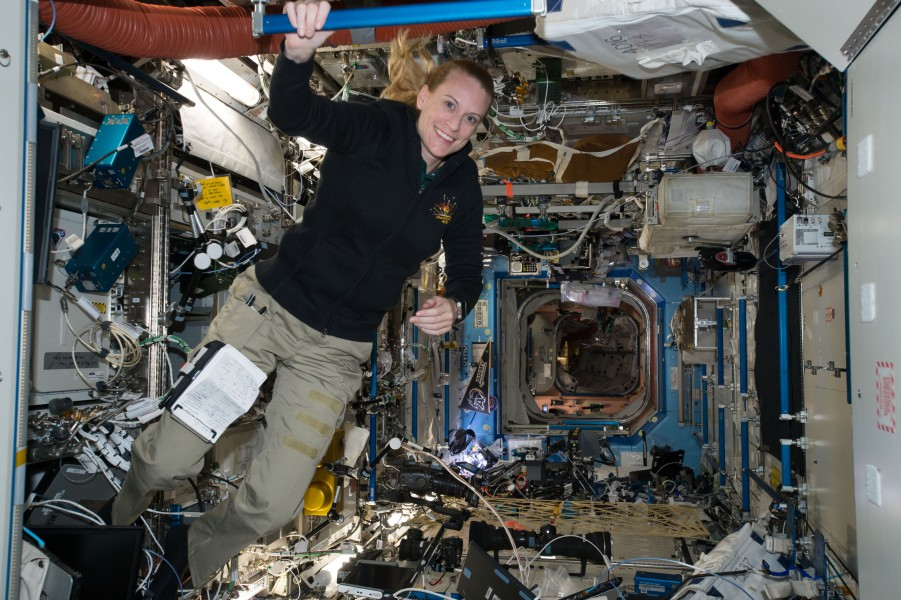 ISS-48 Kate Rubins inside the Destiny laboratory