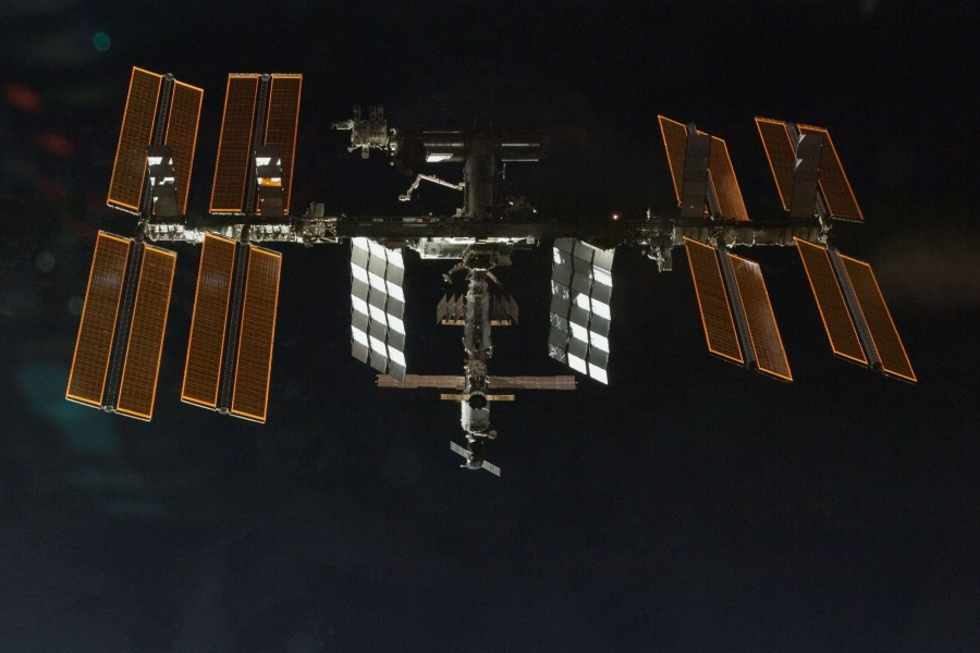 ISS seen from Space Shuttle Endeavour after separation on STS-130