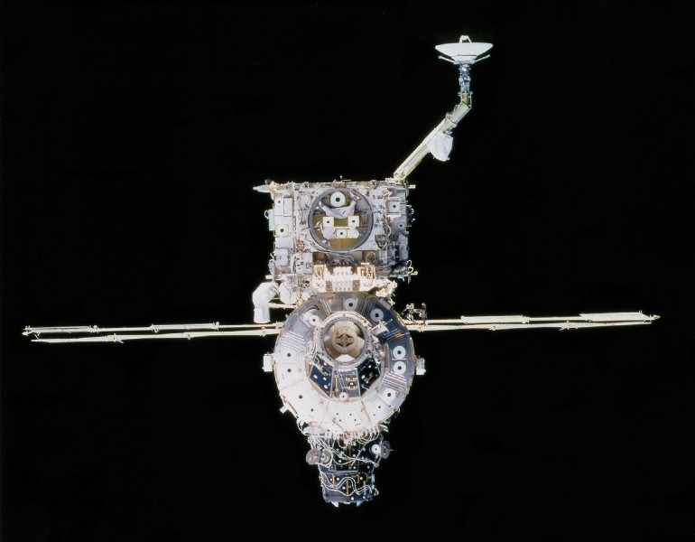 ISS Unity and Z1 truss structure from STS-92