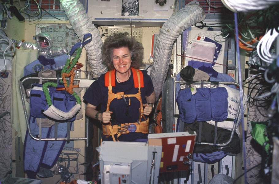 Lucid on Treadmill in Russian Mir Space Station - GPN-2000-001034