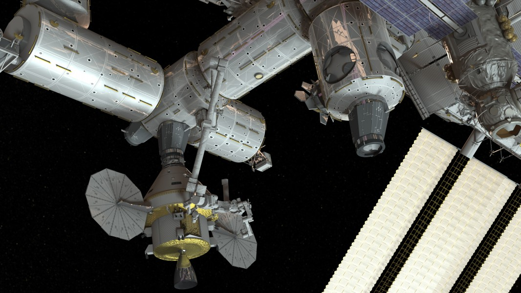 Orion docked to ISS concept
