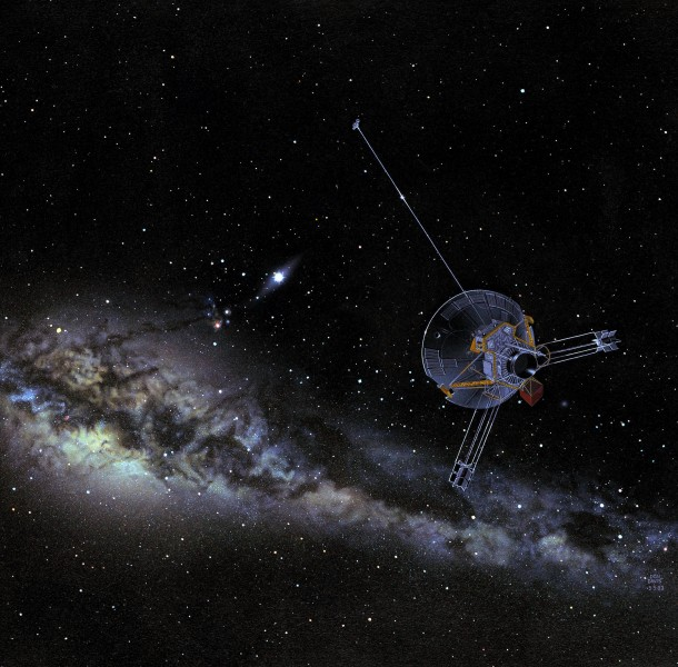 Pioneer 10 or 11 in outer solar system