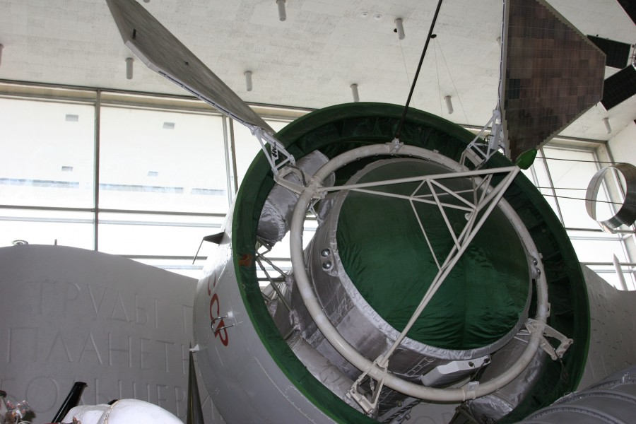 Proton satellite model closeup