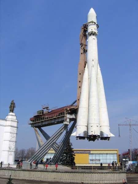R-7-rocket on display in Moscow