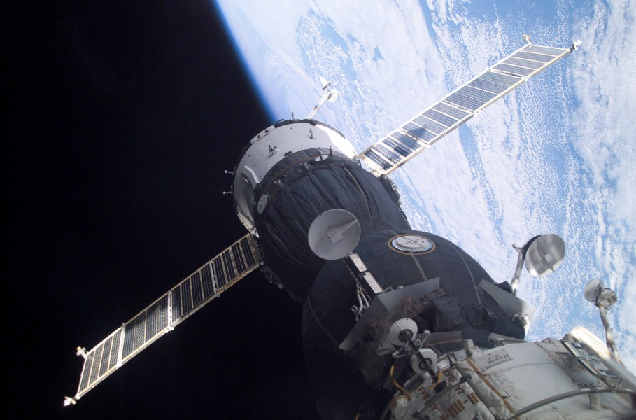 Soyuz TMA-1 at the ISS