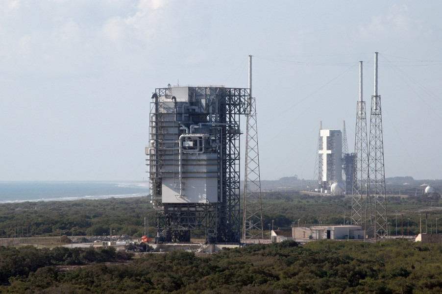 Space Launch Complex 40 with Titan rocket mobile service tower