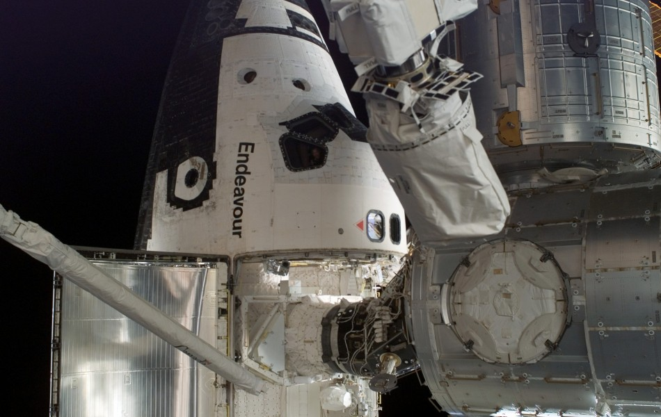 Space Shuttle docked to ISS