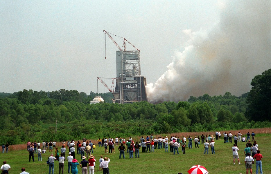 Space Shuttle Main Engine Test Firing - GPN-2000-000064