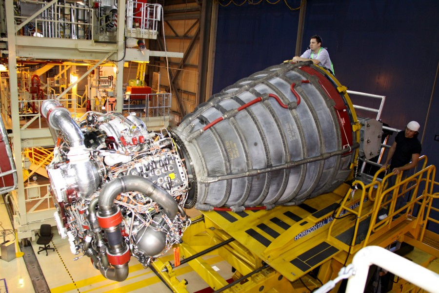 Space Shuttle main engine visual inspection