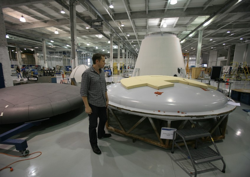 SpaceX factory Musk heat shield