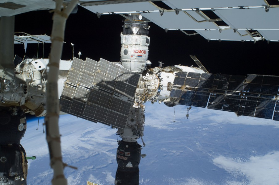 STS-129 EVA3 Poisk Pirs and Progress