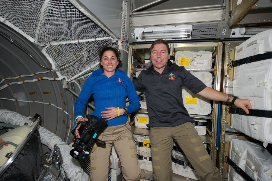 STS-133 Nicole Stott and Michael Barratt in the ATV-2