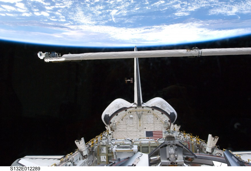 STS132 Atlantis undocking iss1